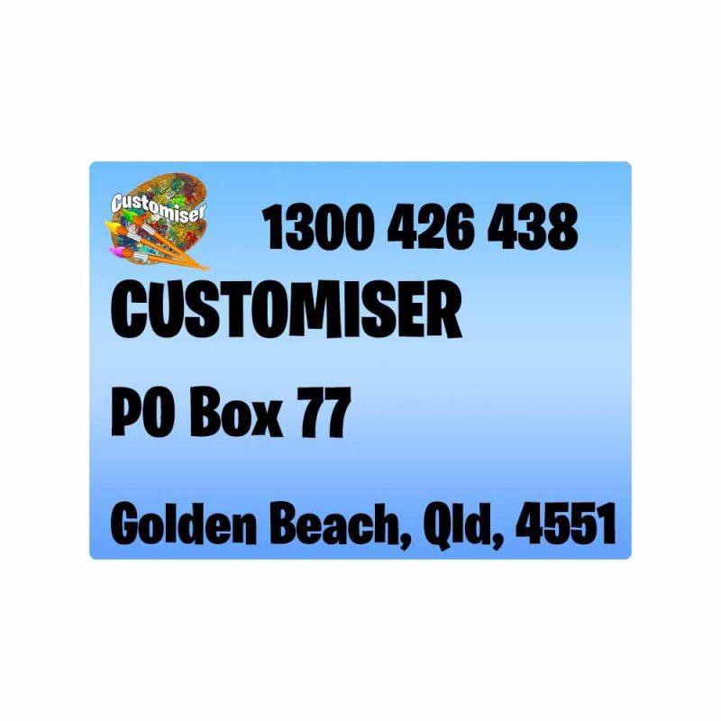 Business Return Labels Small Custom Design Print Printed in Australia Cheap