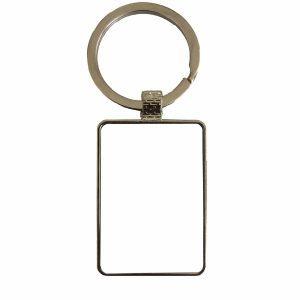 Custom Design square metal keyring Personalised Image