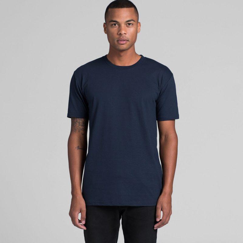 Mens AS Colour Staple Crew Neck T-Shirt Custom Photo Image Design Model Front