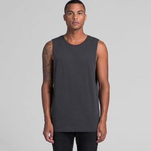 Mens AS Colour Tank Muscle Top Custom Photo Image Design Model Front