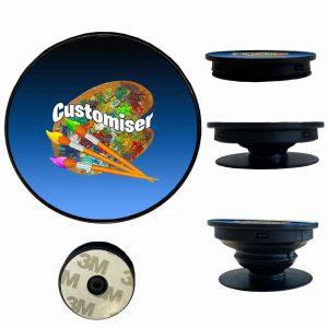 Pop Phone Holder Socket Custom Design Print Australia Black