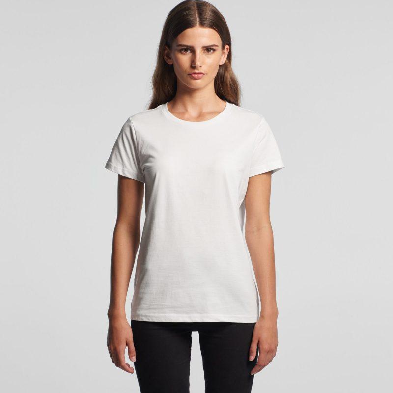 Womens AS Colour Maple Crew Neck T-Shirt Custom Photo Image Design